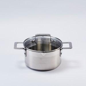 Jamie Oliver 不鏽鋼雙耳湯鍋(含蓋20cm)