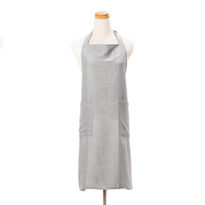 HOLA 素色織紋圍裙70x80cm銀灰色