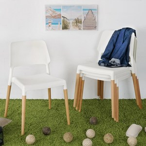 Homelike 韋勃北歐風餐椅-四入組(純淨白)