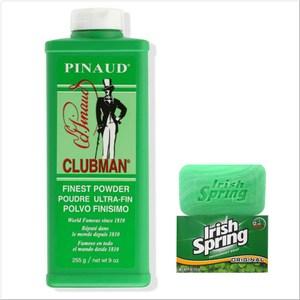 美國Clubman Pinaud皮瑙德體香粉(255g)*1+體香皂*12