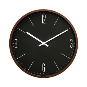 Lovel 30cm 簡約木紋膠框時鐘-深棕(P300BR-BR)