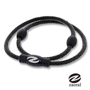 Zaoral 甦活磁石項圈-黑/黑BK/LE(L號)