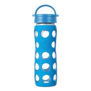 美國唯樂Lifefactory彩色玻璃水瓶-平口475ml海洋藍LF220014