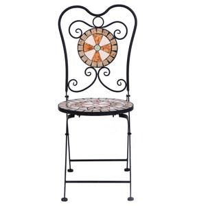 仿石馬賽克折合椅