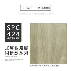 漫步居家IV SPC卡扣式地板(10片/0.68坪DIY材料)多款任選SPC424