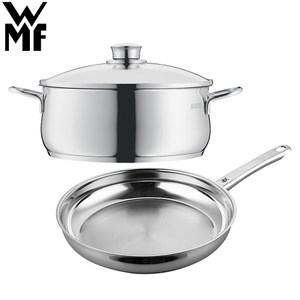 【德國WMF】DIADEM PLUS 平底煎鍋24cm+低身湯鍋3L