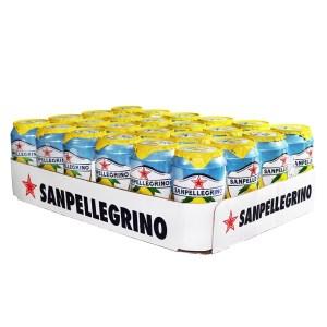 聖沛黎洛 氣泡水果水 罐裝-檸檬口味(330ml)x24瓶