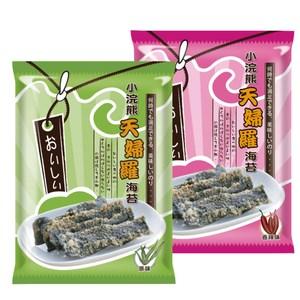 【小浣熊】天婦羅海苔40gX12入(原味6包+香辣味6包)