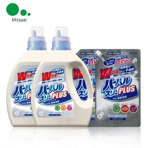 【日本Mitsuei美淨易】酵素去汙洗衣精2kg x2+補充包 x2
