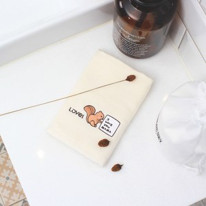 Lovel 幼兒專用天然有機棉紗布童巾-松鼠Baby