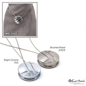金屬窗簾圓形磁性扣 2入/組 43 x 43 x 9mm 亮鉻|刷線鎳亮鉻