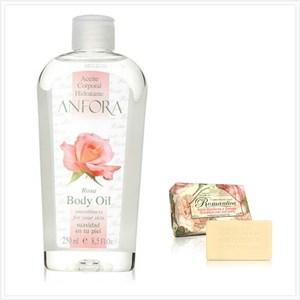 原裝進口ANFORA安芙拉玫瑰果精油(8.5oz)*1+義大利手工玫瑰牡丹皂*3