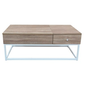 淺漂流木升降桌