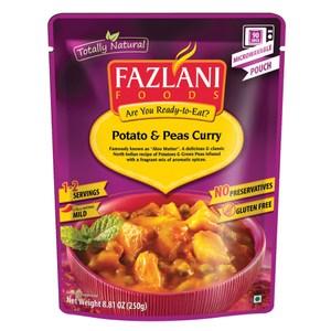 印度Fazlani馬鈴薯豌豆咖喱風味即食包250g
