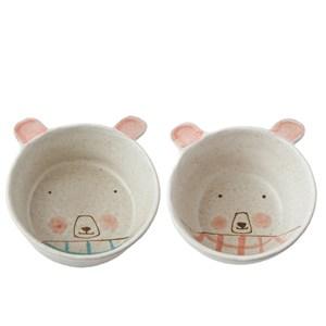 熊幸福陶瓷飯碗 混色