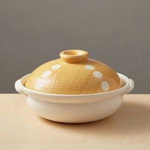 【有種創意】日本萬古燒 - 輕量土鍋8號 - 點點橘(1.6L)