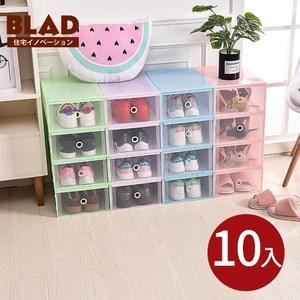 【BLAD】北歐風加大加高抽屜式萬用收納鞋盒-超值10入(白)白色