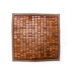 如懿炭化麻將竹單人坐墊 50x50cm 布繩