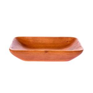 桃花心木長方型深盤