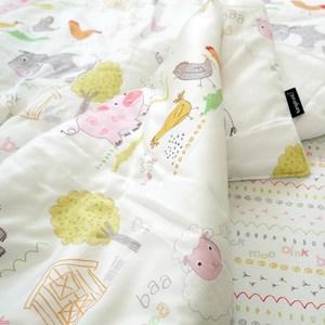 韓國Kangaruru袋鼠寶寶防蹣安全寢具抗菌防螨寶貝毯【白色棉花糖牧場】