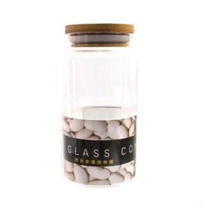 木蓋玻璃密封罐1000ml