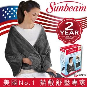 美國Sunbeam柔毛披蓋電熱毯
