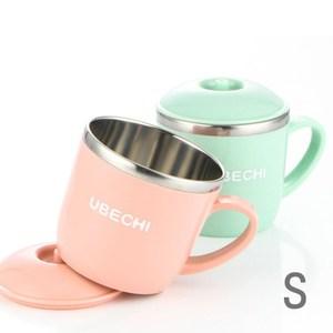 【佶之屋】馬卡龍純色304不鏽鋼有蓋餐杯碗(S)S-單耳杯-綠