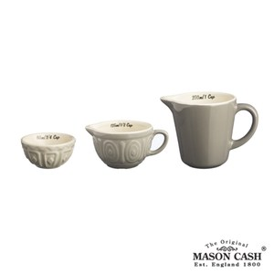 【MASON】BAKER LANE系列陶瓷量杯3件組(淺咖啡)