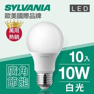 【喜萬年】 LED E27 10W 燈泡 白光(6500K)-10入組