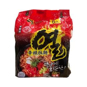 韓國不倒翁拉麵辛辣120gx5