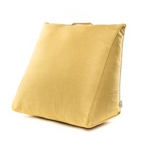 HOLA 素色織紋三角大靠墊57x50x30cm芥黃色
