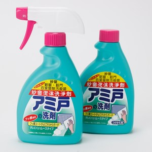 日本原裝進口製造 紗窗免拆卸泡沫洗淨劑 400ml 2入組 [紗窗、鋁窗/門、百葉窗除污殺菌]
