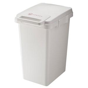 【日本RISU】URBANO系列北歐風連結式垃圾桶45L-白色