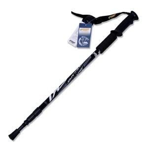 【PUSH! 戶外休閒登山用品】航空鋁合金鎢鋼杖尖三節調整式登山杖P63天藍色