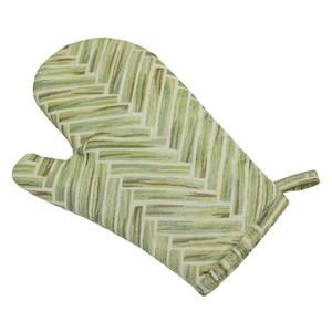 幾何隔熱手套綠