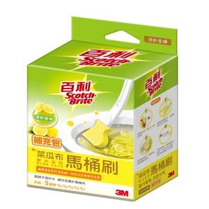 3M百利菜瓜布馬桶刷 香水系列補充包 香檸