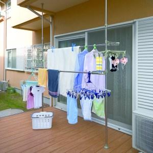 【LIFECODE】頂天立地-魔法空間超大型曬衣架-加送2個襪子架