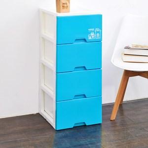 好漾四層收納置物櫃(單層27L)-DIY-粉藍