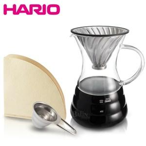 【HARIO】V60白金金屬濾杯咖啡壺組 VPD-02HSV