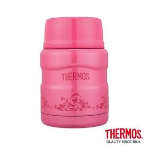 THERMOS 膳魔師 不鏽鋼真空燜燒食物罐/保溫罐/悶燒罐 470ml 紅莓歐蕾