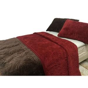 法蘭絨絎縫蓋毯枕套組 單人 咖