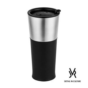 JVR 韓國原裝 BASIC不鏽鋼繽紛隨行杯450ml-共3色黑色