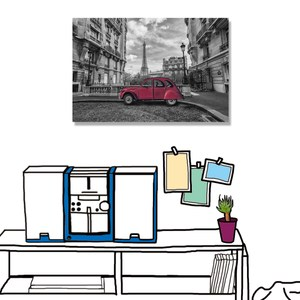 【24mama 掛畫】單聯式 油畫布 無框畫 60X40cm-復古巴黎