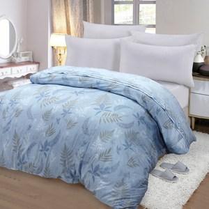 【FITNESS】精梳棉雙人鋪棉兩用被套-里葉亭(藍)6*7