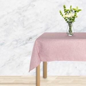 仿麻桌巾120x120cm珊瑚粉