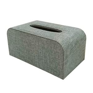 品味布緻面紙盒 寧靜藍