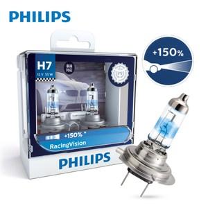 【Philips 飛利浦】極速競技光RV+150%-兩入H7