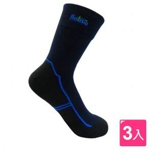 PROTASIA 寬口無勒痕除臭運動襪(3入)-藍色-L