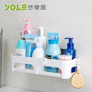 【YOLE悠樂居】無痕貼浴室廚房置物收納籃#1425051