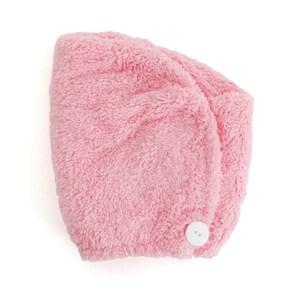 Lovel 7倍強效吸水抗菌超細纖維浴帽(芭比粉)